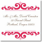 Name Doodles - Square Address Labels/Stickers (Norfolk Pink)